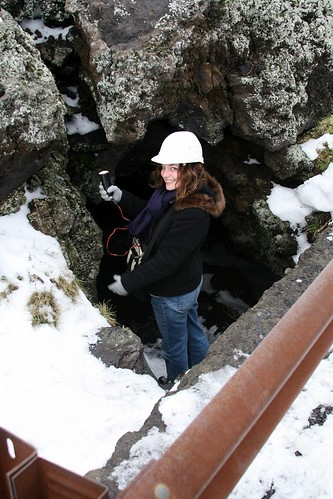Girlie Geared Up to Descend into the Lava Cave