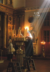 Beams of light... (apophaseress) Tags: light church moscow russian orthodox beams