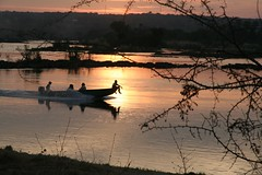 Zambesi Speedboat (colmdc) Tags: africa sunset waterfall victoriafalls zambia zambesi royallivingston