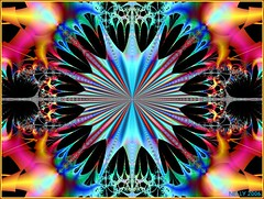 BLUE STAR...! (MONKEY50) Tags: pink blue abstract black color colour art colors beautiful yellow digital colours mandala fantasy fractals mandalas colourartaward mygearandme