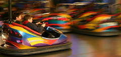 Dodgem (Leon Sammartino) Tags: show carnival colour night canon amusement movement 300d royal melbourne rides