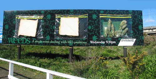 "Funny Billboard for tv show ""Weeds"""