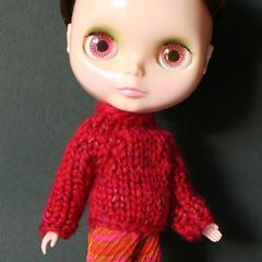 Petunia (Helena / Funny Bunny) Tags: doll kenner blythe 1972 olds kennerblythe funnybunny petuniakibbles chunkysweater fbfashion
