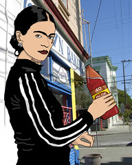 Ghetto Frida (El Rio) Tags: art digital frida ghetto kahlo ghettofrida