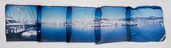 Port d'Aiguadol (Cea tecea) Tags: panorama polaroid holga 88 holgaroid sitges emulsionlift aiguadol