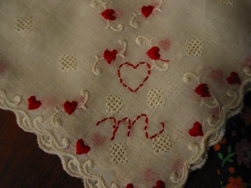 heart handkerchief