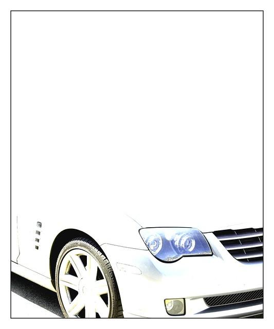 auto white art car d50 chrysler crossfire toniv ©toniv