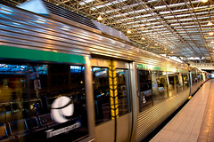 Last Train to Freo (qui-bon) Tags: motion reflection train australia trainstation perth transperth movingtrain photowalking lasttraintofreo pwsession1