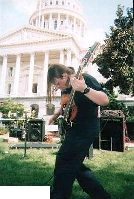 My old band playing outside the State Capital.