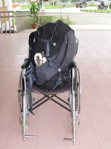 travel hospital asia wheelchair wheels backpack laos