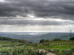 Sicily Landscape (Renmarc) Tags: sea sky italy cloud green nature clouds photoshop wow landscape flickr italia mare nuvola play experiment favorites natura more cielo views faves favs hdr paesaggio interestingess salemi renmarc aplusphoto