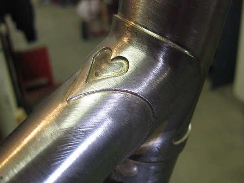 Downtube lugs on a custom Ira Ryan frame.