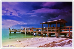 Sanibel Pier Before the Storm (Michael Pancier Photography) Tags: storm beach nature pier florida digitalart sanibelisland egrets fineartphotography naturephotography seor naturephotographer floridaphotographer pancier michaelpancierphotography wwwmichaelpancierphotographycom seorcohiba
