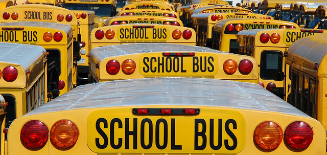 school bus lot
