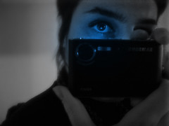 Blue eye obsession (lavomatic) Tags: eye me myself autoportrait samsung nb oeil bleu miroir apn nv3 samsungnv3