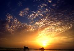 ... aur bikhre bikhre hum tum (Kaafoor) Tags: pakistan sunset beach warm pakistani karachi seaview adeel distortions pakistaniphotographer karachite