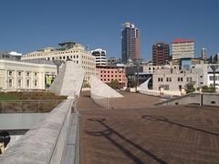 Civic Square (sitharus) Tags: newzealand raw wellington e300 civicsquare