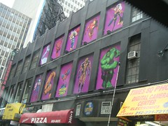 Midtown Comics - Hero Windows by Graffiti By Numbers, on Flickr