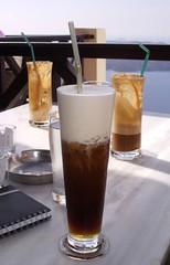 Greece 172 - Cappuccino freddo (lihayward) Tags: holidays drink athens santorini greece cappuccino refreshing freddo