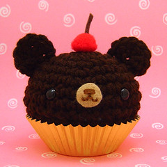 Amigurumi Chocolate Cupcake with Cherry on top