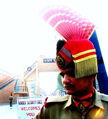 oct 22/23 2006 - an indian soldier @ wagha border...amritsar...#1 (_saurabh_) Tags: people colors religious temple gold golden sikh punjab goldentemple bhangra punjabi guru giddha gidha mutiyar