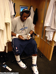 Josh Howard Preparing for Game 2 of the NBA Finals 2006 - Mavs vs Heat (GuitarBrother) Tags: dallas lockerroom americanairlinescenter dallasmavericks joshhoward jho nbafinals nbafinals2006 nbafinals2006game2