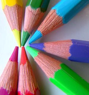 crayons color colours pencils