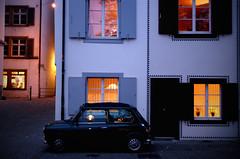 mini mini (Funny Fish) Tags: old november autumn houses light streets cold home car warm mini inside wintery