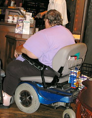 Junk Food Addiction (colros) Tags: wheelchair disneyworld obesity