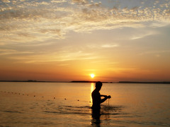 fishing (aZ-Saudi) Tags: sunset sea fishing sundown arabic saudi arabia ksa  alhasa         arabin arabs