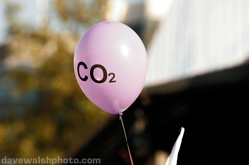 Climate Change: co2 balloon at I Count, Trafalgar Square