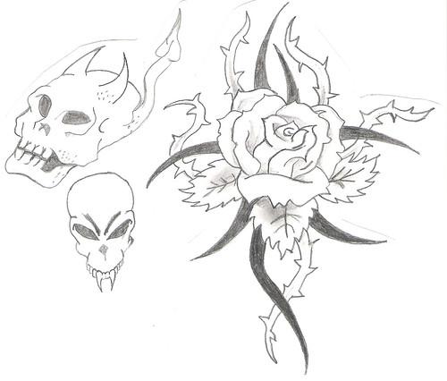 dibujos de los tatuajes. Mis dibujos 3 El de la rosa es un