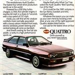 Audi Ur-Quattro  Retro Car Advert