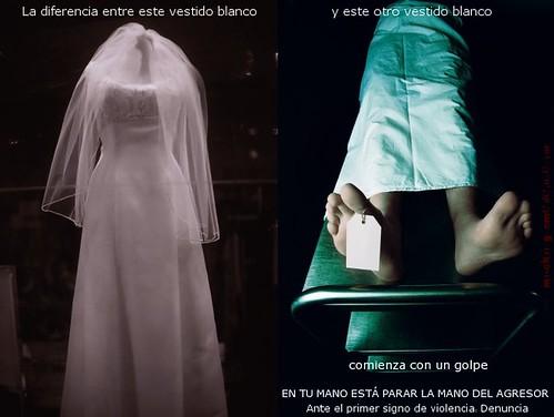 la diferencia entre vestidos blancos
