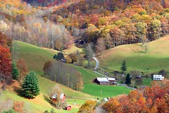 Maggie Valley (StGrundy) Tags: autumn trees orange usa green fall nature colors yellow farmhouse barn rural season landscape scenery seasons farm sony seasonal northcarolina hills foliage changing valley autumnal blueridgeparkway smokymountains gettyimages maggievalley dsch2 colorphotoaward artistsoftheyear superperfectphotographer colorphotoawardsilver moderatorsfave