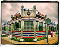 Berlin Diner (FotoEdge) Tags: coffee breakfast corner booth newjersey 60s neon meals nj diner jukebox 50s togo stainless gardenstate instantfave whitehorsepike tabletopjukebox abigfave berlindiner
