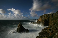 Irish Lady Cove (stuart100) Tags: longexposure seascape night clouds wow landscape cornwall waves awesome blurred moonlight sennen abigfave