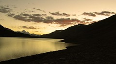 Sunset :: Karomber Lake (Kaafoor) Tags: trip travel blue pakistan red summer lake water beautiful beauty north visit best valley pakistani adeel distortions iloveit broghil northernarea ishkoman theworldsbest greaan pakistaniphotographer karomber swinje karachite karombverlake ilovetraveling ihavebeentothisplace