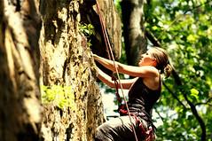 (DanielMorcos) Tags: cliff usa laura beautiful beauty rock danger high dangerous muscle tennessee daniel rope falls lemons climbing foster rockclimbing tone adrenaline height fosterfalls excitment morcos leadclimbing