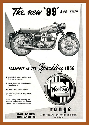Norton '99' 600 Twin Ad by montanaman1