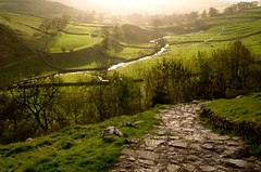 Morning sun on Malham valley - by simpologist