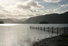Derwentside (Stringendo) Tags: lake water clouds lakedistrict hills shore cumbria fells derwentwater keswick novideo