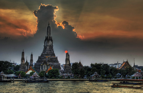 Bangkok at sunset.