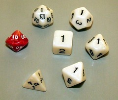 My D&D Dice (Vanessa Pike-Russell) Tags: white dice game macro die geek dragons gaming numbers fantasy rpg dd dungeonsdragons dungeons d20 roleplay probability vanessapikerussellcom