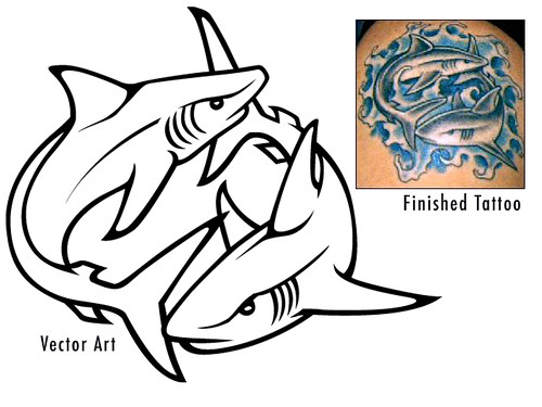 Tribal Shark Tattoos