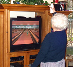 Nintendo wii! My mother-in-law Thelma wii bowling a 155!!! by Earl - What I Saw 2.0