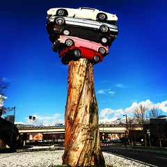 Road Rage (Pennan_Brae) Tags: classiccars cars contemporaryart vancouverbbc yvr publicart art vancity roadrage vancouver