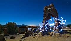 Knapp's Castle, Electrified (Toby Keller / Burnblue) Tags: longexposure toby lightpainting santabarbara night landscape keller d70 headlamp santaynez tobykeller knappscastle 1118mm burnblue