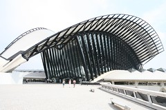 Santiago Calatrava in Lyon (Bill in DC) Tags: france lyon 2006 calatrava airports lys stations sncf eos5d aeroports views9000 aeroportstexupery