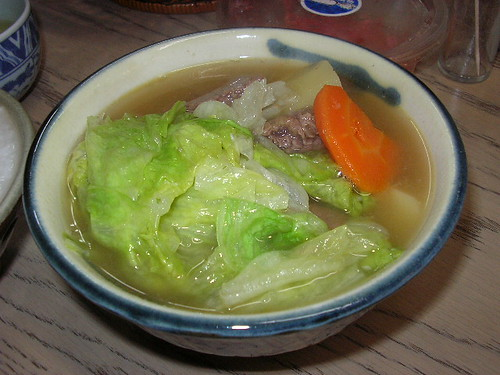 """Ushi-jiru (beef soup), the Morning Station"